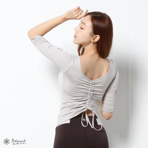 N0612 러블리 백 셔링 티셔츠_베이지
